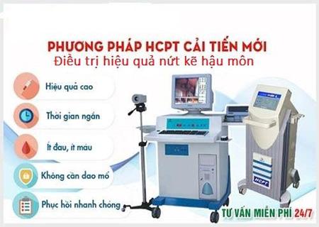 Phương pháp HCPT chữa nứt kẽ hậu môn an toàn