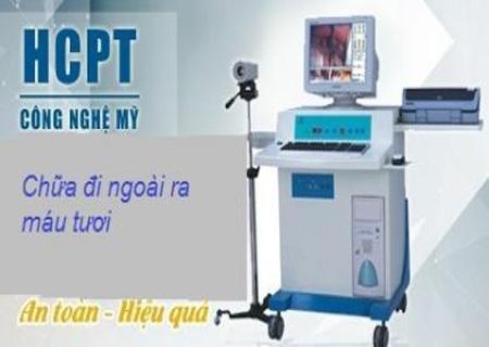 Điều trị đi ngoài ra máu được điều trị bằng kỹ thuật hiện đại