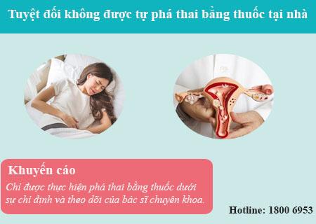 Không được phá thai bằng thuốc tại nhà