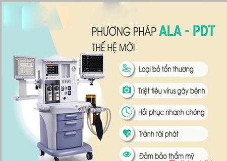 Phương pháp ALA-PDT hỗ trợ điều trị u nhú sinh dục hiệu quả