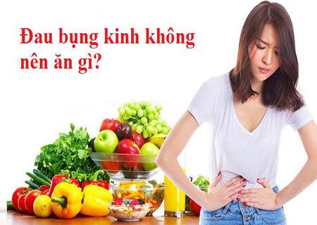 Đau bụng kinh không nên ăn gì