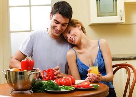 chú ý chế độ dinh dưỡng để nâng cao khả năng mang thai